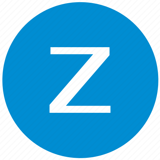 key, latin, letter, z icon