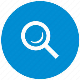 blue, find, instrument, loop, magnifier, round, search icon