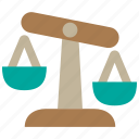 balance, evaluate, evaluation, insurance, justice, law, risk icon