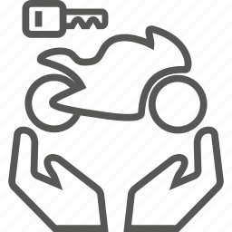 bike, biker, buy, care, key, motor, owner icon