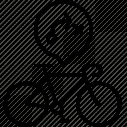 bicycle, life, road, toute, track, travel, yumminky icon