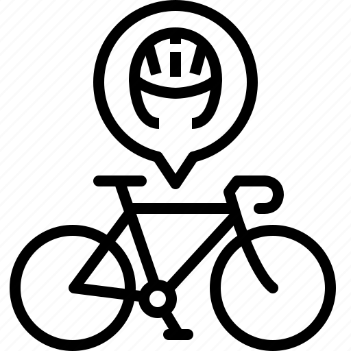 bicycle, equipment, helmet, life, protection, road, yumminky icon