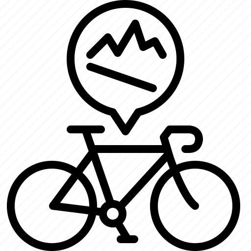 bicycle, downhill, hills, life, mountains, road, yumminky icon