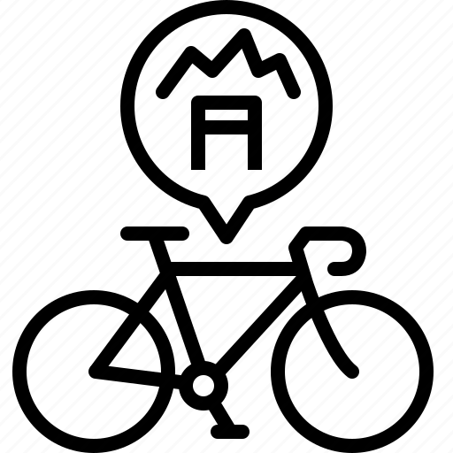 bicycle, hills, life, premium, race, road, yumminky icon