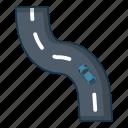 car, cartoon, left, logo, object, road, turn