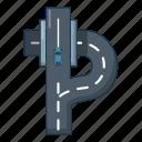 autobahn, car, cartoon, highway, logo, object, road