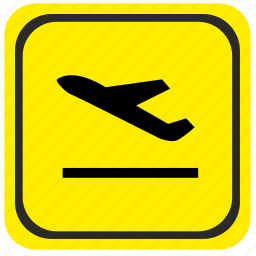 airport, area, forward, pointer, road icon