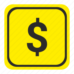 dollar, exchange, money, poi, pointer, road, usd icon