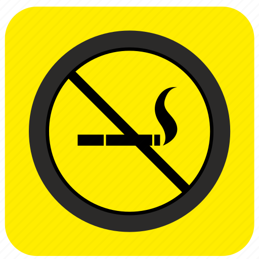 area, cancel, no, poi, pointer, road, smoking icon
