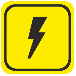 attention, electricity, forward, poi, pointer, road, warning icon