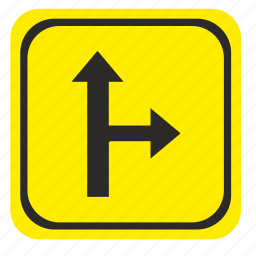 pointer, right, road, way icon