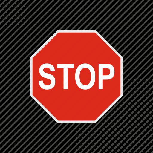 danger, road, safety, stop, street, traffic, warning icon