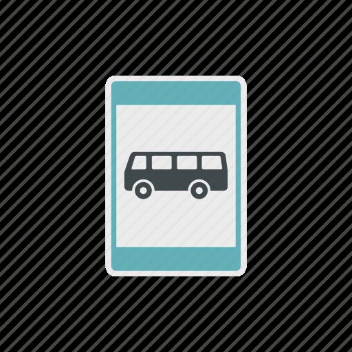 bus, public, station, stop, traffic, transport, transportation icon