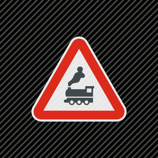 danger, engine, locomotive, road, steam, track, train icon