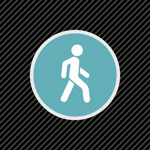 pedestrian, road, safety, street, traffic, transportation, warning icon