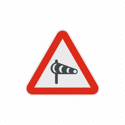 sock, traffic, triangle, warning, weather, wind, windsock icon