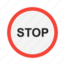 road sign, stop, stop sign, warning icon