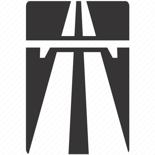 highway, motorway, road, sign icon