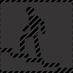 overground, pedestrian, road, sign icon