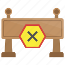 barricade, crash barriers, stop barrier, traffic barricade, traffic barrier icon