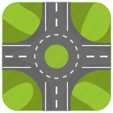 road circle, rotary, rotunda, roundabout, traffic circle icon