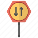 give way, oncoming traffic, road sign, traffic instructions, traffic sign icon