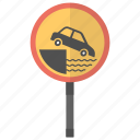 ferry berth, quayside sign, road sign, traffic warnings, warning sign icon