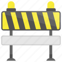 crash barriers, traffic barricade, barricade, construction barrier, traffic barrier icon