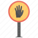 hand stop, stop sign, stop symbol, traffic sign, wrong way icon
