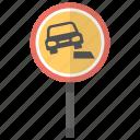 dangerous roadside, dangerous shoulder, road sign, soft verges, traffic sign icon