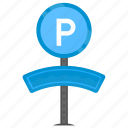 parking area, parking sign, parking symbol, parking zone, traffic sign icon