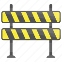 barricade, construction barrier, crash barriers, traffic barricade, traffic barrier icon