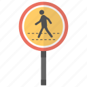 crosswalk sign, pedestrian crossing, roads sign, traffic sign icon