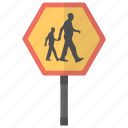 school crossing, road sign, traffic sign, school ahead, children crossing icon