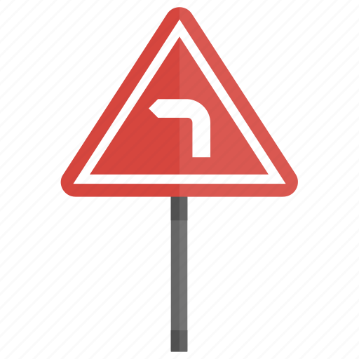 directional sign, driving sign, left turn, road sign, traffic sign icon
