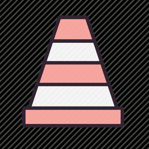cone, road, traffic, traffic cone icon