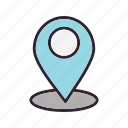 location, pin, tracking, tracking system icon