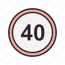 limit, speed, speed limit, speedometer icon