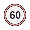 duage, limit, speed limit, speedometer icon