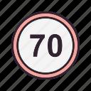 limit, speed, guage, speedometer