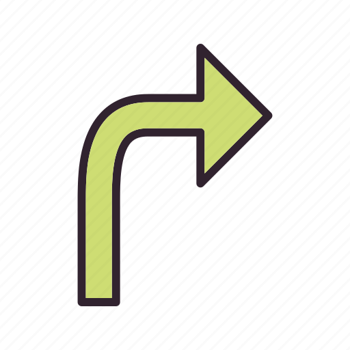 arrow, direction, right, turn icon