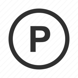 parking, parking sign, road, sign icon