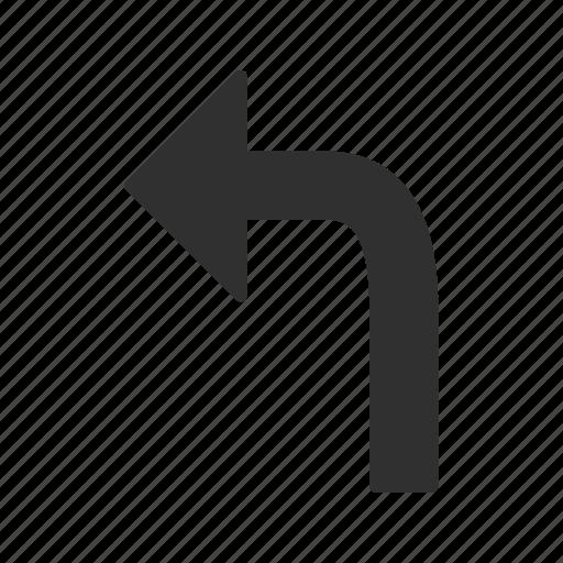 arrow, left, left turn, turn icon