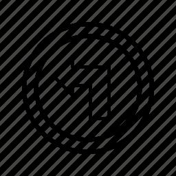 arrow, left turn, turn icon