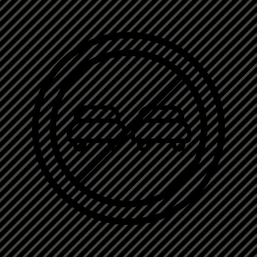 forbidden, overtaking, prohibited icon
