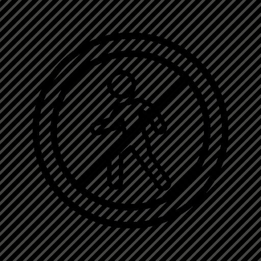 forbidden, pedestrian, stop icon