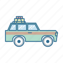 automobile, car, roadtrip, travel icon