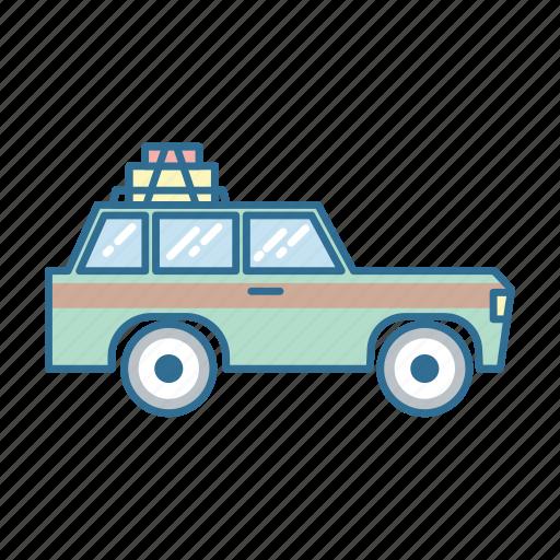 automobile, car, roadtrip, travel icon