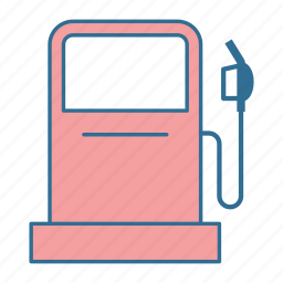 fuel, gas station, gasoline, nozzle, oil, pump, roadtrip icon