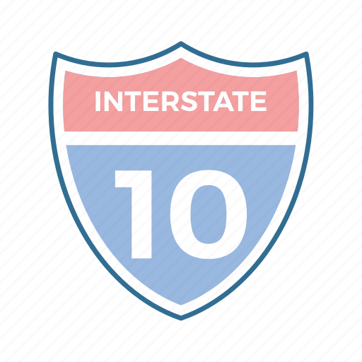 interstate, road, roadside, roadtrip, sign icon